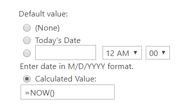 default date value